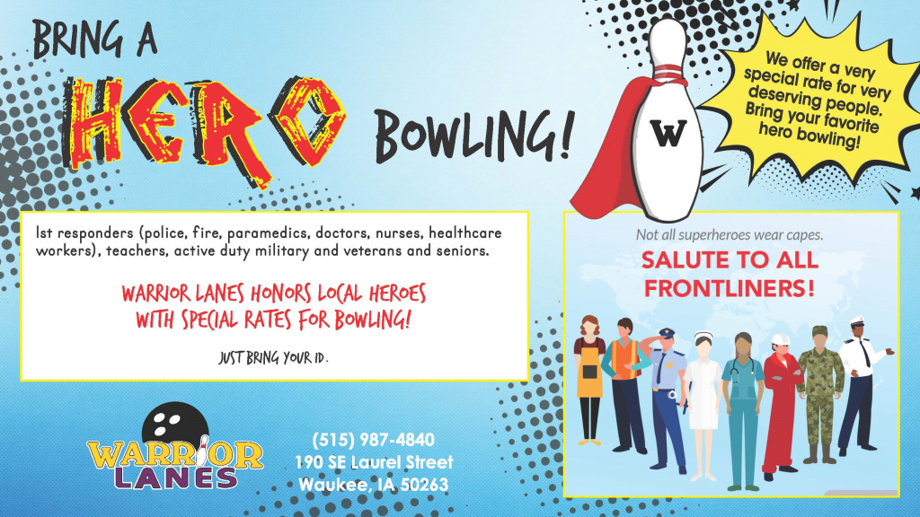 Bring A Hero Bowling Special Rates